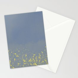 Abstract speckled background - grey and yellow Stationery Cards
