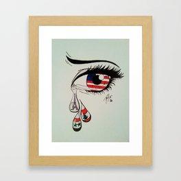 Tears for the Terrorized  Framed Art Print