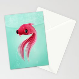 Little Fish Coy Koi Stationery Cards