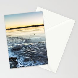 Sunset Over Freezing Lake 10 Stationery Cards