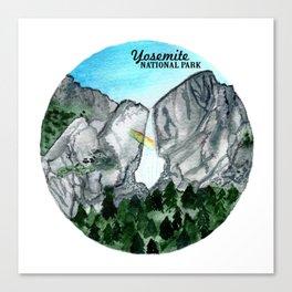 Yosemite National Park Watercolor Canvas Print