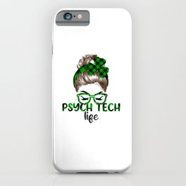 Lucky Psych Tech St Patricks Day Irish Shamrock Nurse iPhone Case