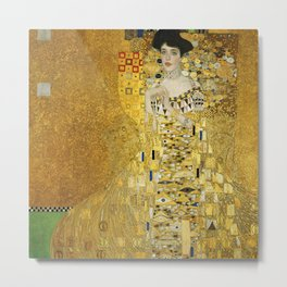 Gustav Klimt - Portrait of Adèle Bloch Bauer Metal Print