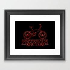 Mysterious Bike Tours Framed Art Print