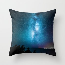The Galaxy Landscape (Color) Throw Pillow