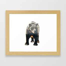 Woodland Bear Framed Art Print