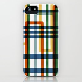 Abstract Lines - 5 Line Metro Map iPhone Case