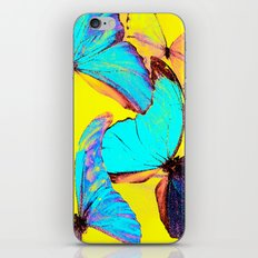 Shiny and colorful butterflies iPhone & iPod Skin