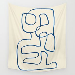 Abstract line art 16 Wall Tapestry