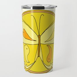 pura vida peace butterfly // retro art by surfy birdy Travel Mug