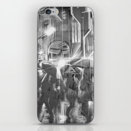 Rainy day in the city. iPhone Skin