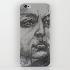 Pencil Sketch of Female Face/Portrait. Graphite iPhone & iPod Skin