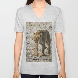 Lioness on the Move Unisex V-Neck