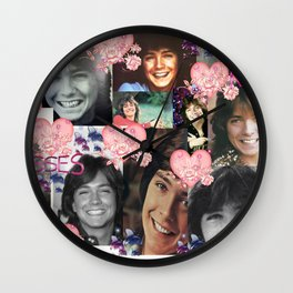 David Cassidy - Butterfly Kisses N Hearts Wall Clock