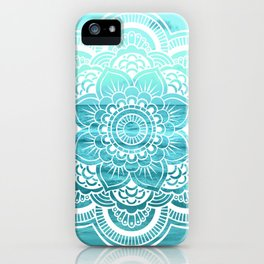 Mandala : Aqua Sunset Waters iPhone Case