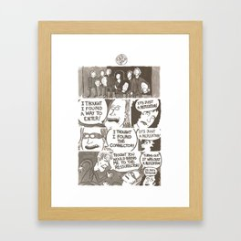 IT'S JUST A REFLEKTOR! Framed Art Print