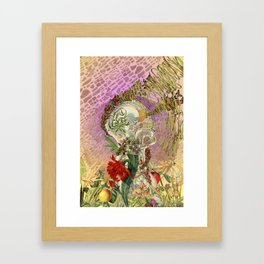 """""""Everything Within"""" anatomical collage art by Bedelgeuse Framed Art Print"""