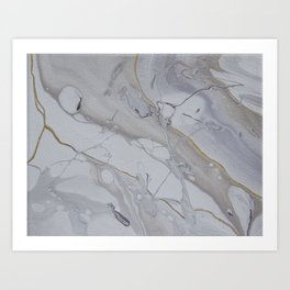 Marble and Gold Art Print