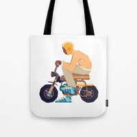 honda Tote Bags featuring #2 HONDA Z50 by Brownjames Prints