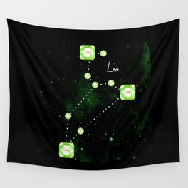 Leo Constellation in Peridot - Star Signs and Birth Stones Wall Tapestry