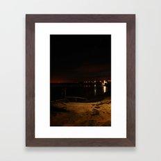Jetty in the Sand 2 Framed Art Print