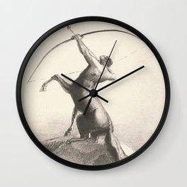 """Odilon Redon """"Centaur focuses on the sky"""" Wall Clock"""