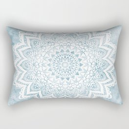 LIGHT BLUE MANDALA SAVANAH Rectangular Pillow