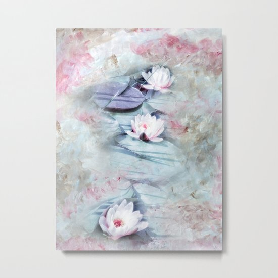 SUMMER LILY POND Metal Print