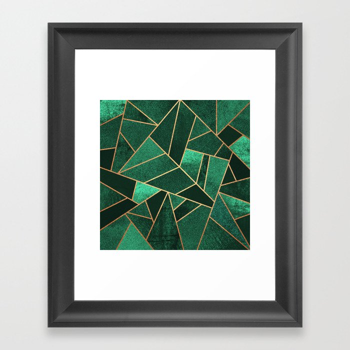 Emerald and Copper Gerahmter Kunstdruck