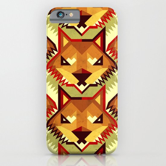 The Bold Wolf pattern iPhone & iPod Case