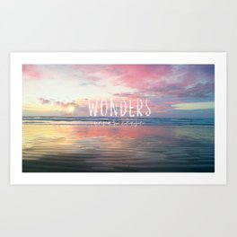 Wonders Never Cease Text Art Print