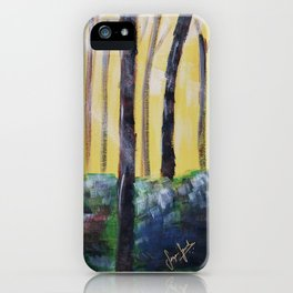 Good Luck Series: Sunny Forest Abstract iPhone Case