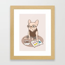 The Hipster Reader Framed Art Print