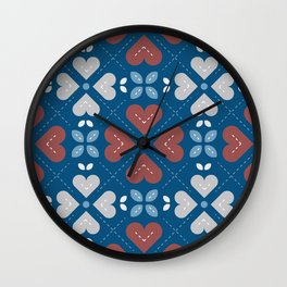 Cross My Heart Pattern Wall Clock