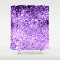 lavender Shower Curtains featuring LavendeR by SimplyChic