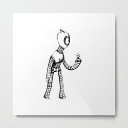 Lightbot by Star Metal Print