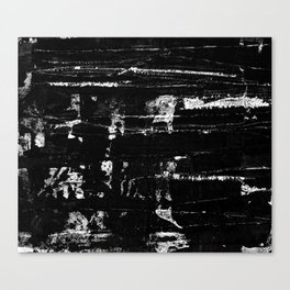 Distressed Grunge 102 in B&W Canvas Print