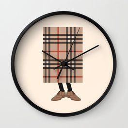 Check out Mr. Check Wall Clock