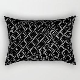 Keyboarded BLACK Rectangular Pillow