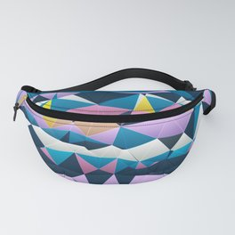 Multi colored purple blue quilted pattern abstract Fanny Pack