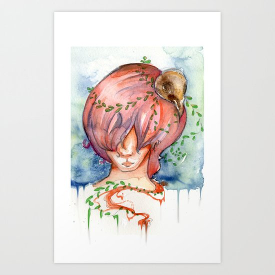 melting slowly Art Print