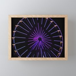 Fun on the Ferris wheel Framed Mini Art Print