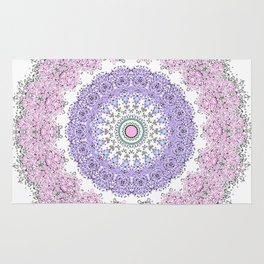 Mandala - Boho - Pastels - Purples Rug