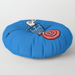 Snail Rider Bunny 2019 Floor Pillow
