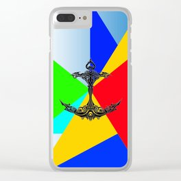 The Anchor Stripes Colorful Clear iPhone Case