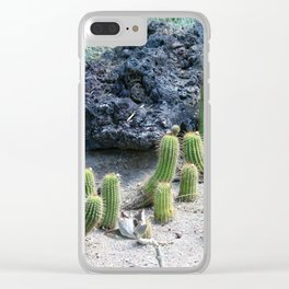 Echinopsis Cacti Clear iPhone Case