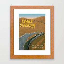 The Transsiberian Railway Travel Poster Framed Art Print