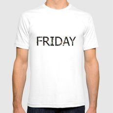 Friday SMALL White Mens Fitted Tee