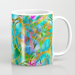 Floral Abstract Stained Glass G265 Coffee Mug