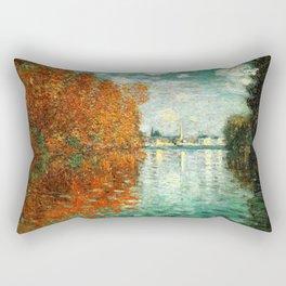 Monet : Autumn Effect at Argenteuil Rectangular Pillow